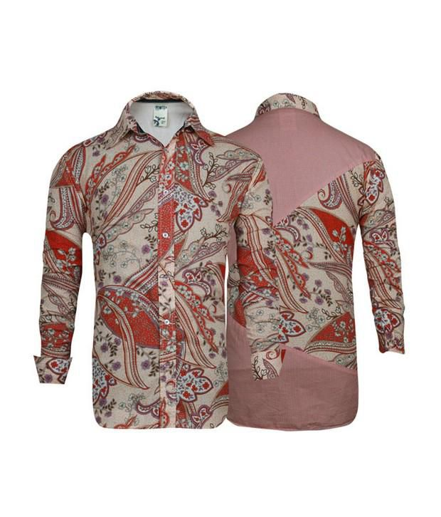Probase Red Printed Shirt