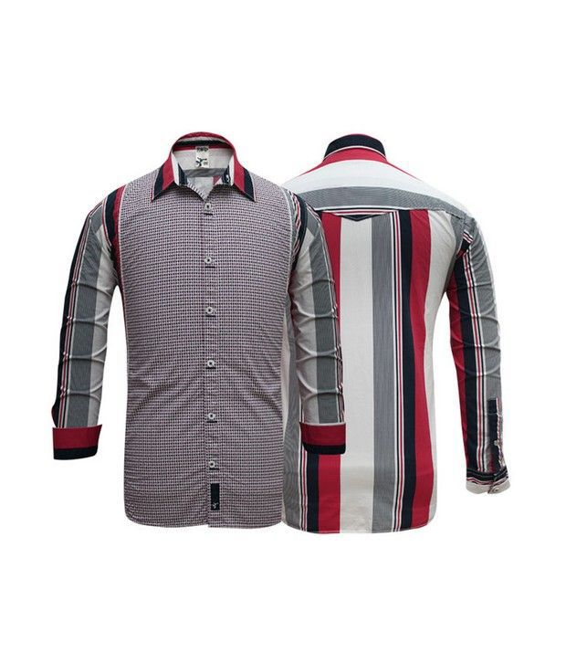 Probase Red Striped Shirt