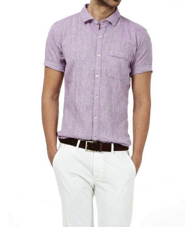 Basics 029 Purple Solid Shirt