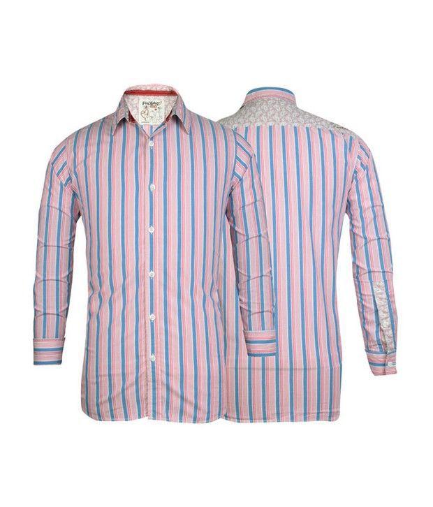 Probase Pink Striped Shirt