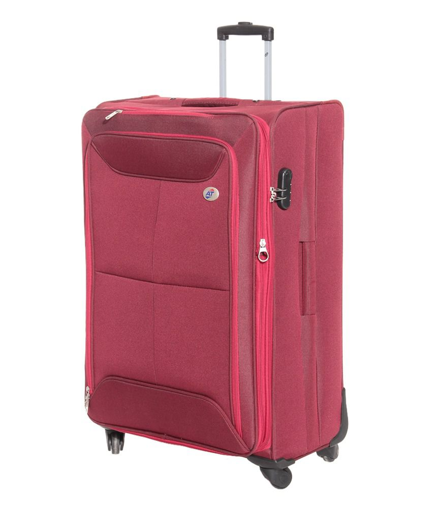 american tourister large size red konnect spinner 4 wheel