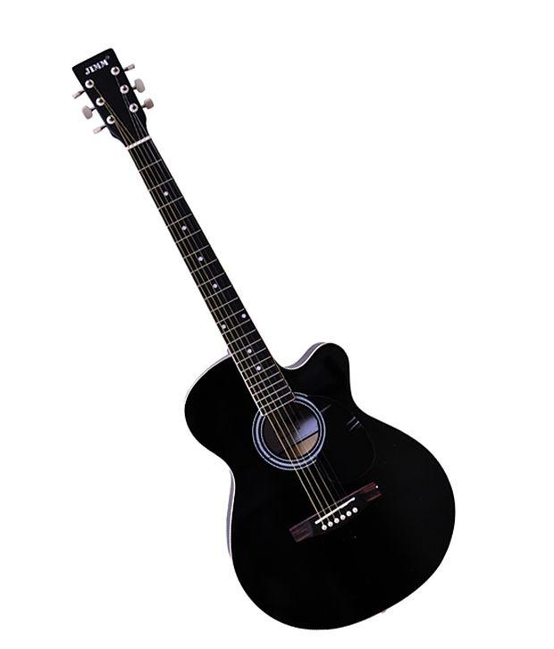 Jimm K1 Acoustic Guitar w/cut Black