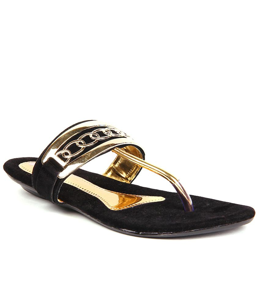 Anand Archies Black Flat