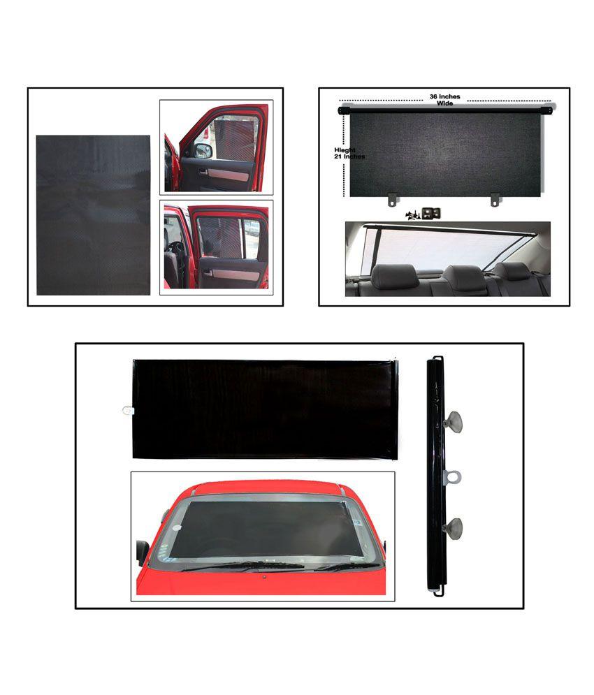 oem combo of front roller sunshade black electrostatic sunshade set of 4 rear black roller. Black Bedroom Furniture Sets. Home Design Ideas