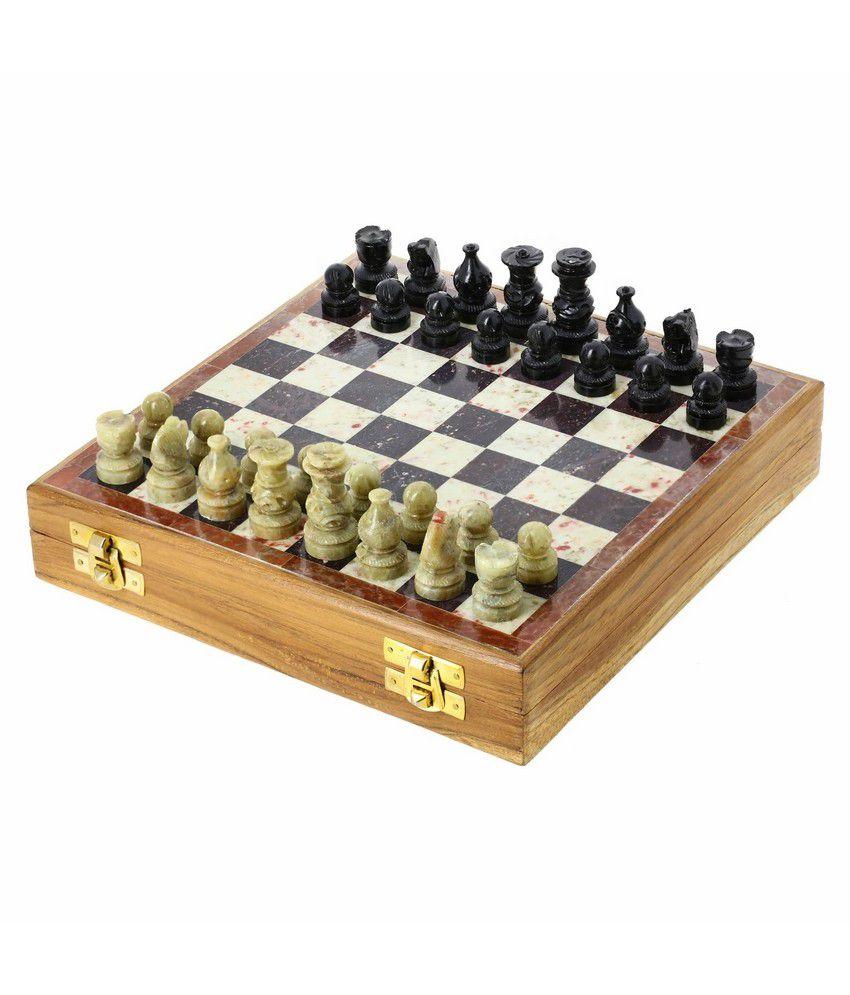 Shalinindia Mn-Stone_Chess_Set_8_Inch Chess Board