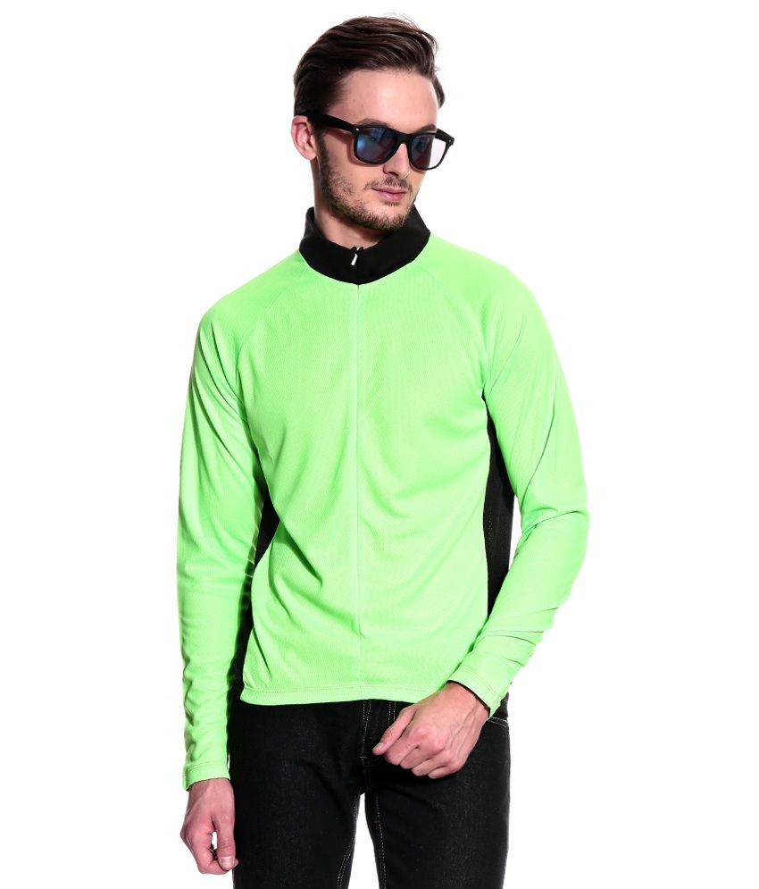 T10 Sports Green Full  Polo T-Shirt
