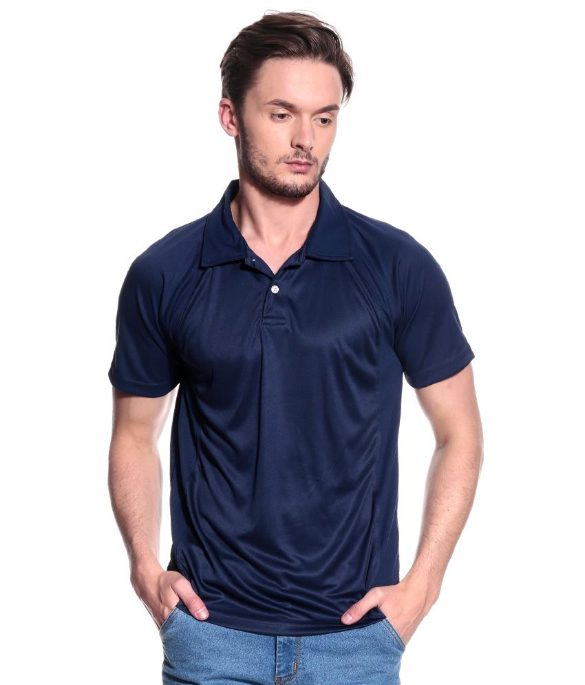 T10 Sports Navy Polyester T-Shirt