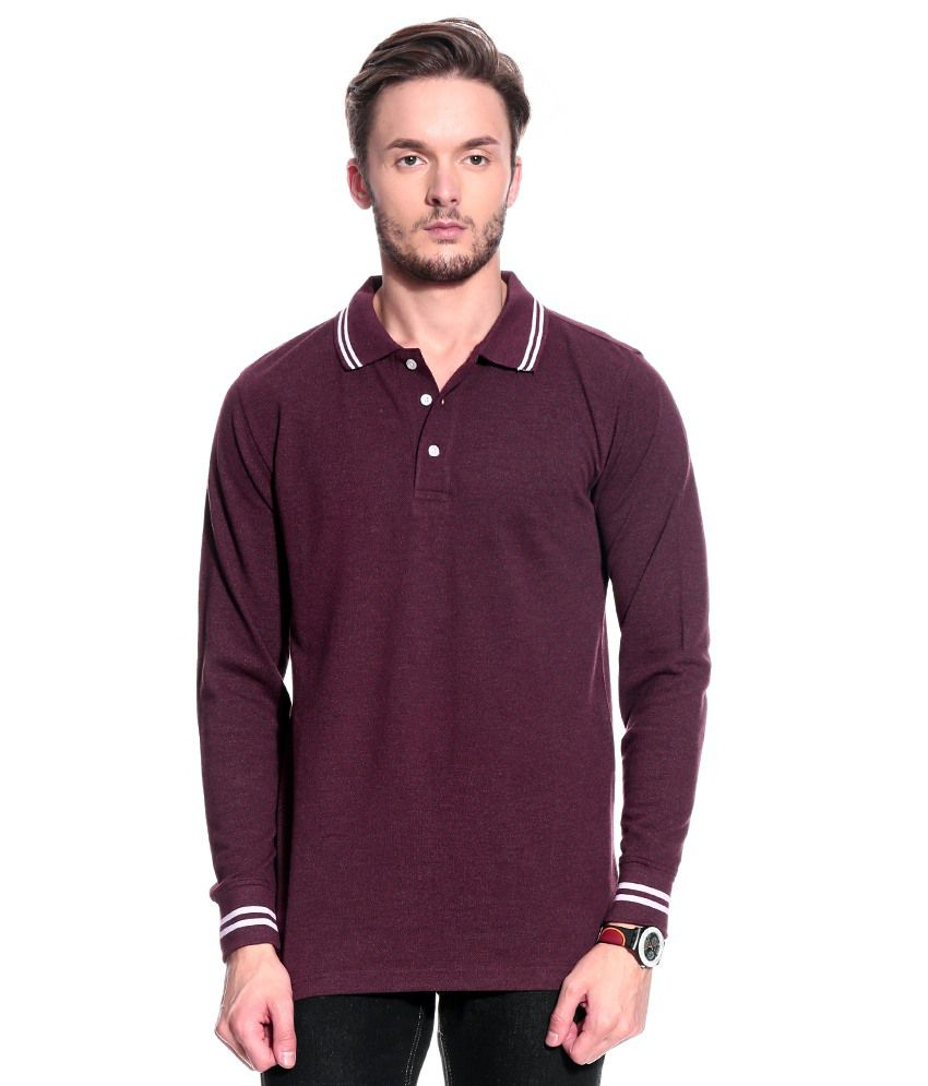 T10 Sports Purple Full  Polo T-Shirt