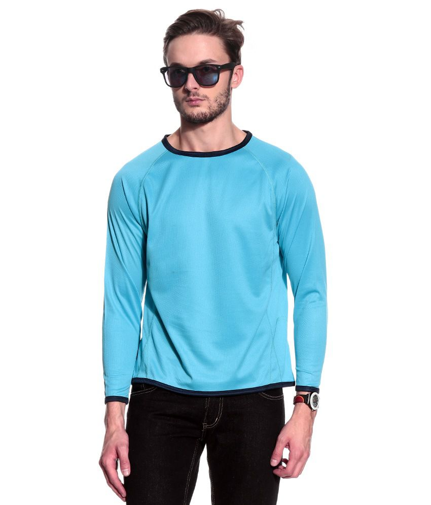 T10 Sports Turquoise Polyester T-Shirt