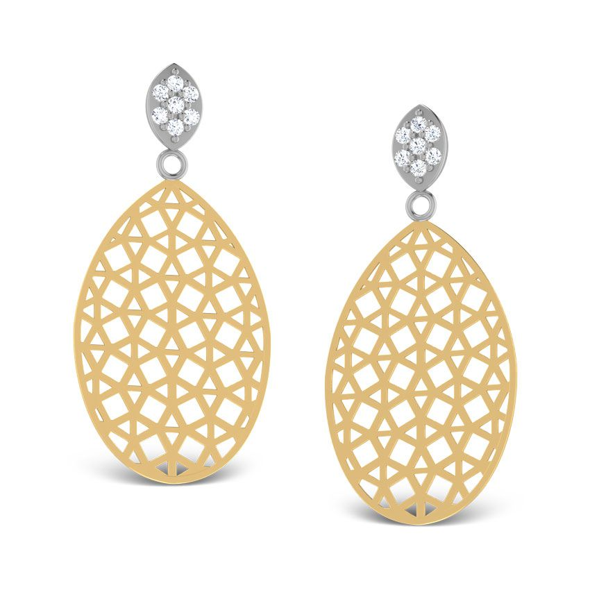 Oval Reticulate Drops by Caratlane