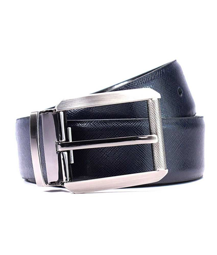 Batuva Black Formal Reversible BeltMen