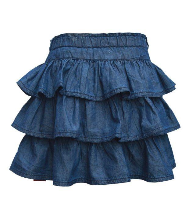 Gron Stockholm Blue Skirts  For Girls