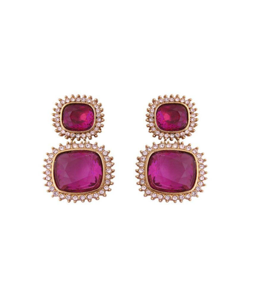 Karigari Online Fashions Pink Stud Earring