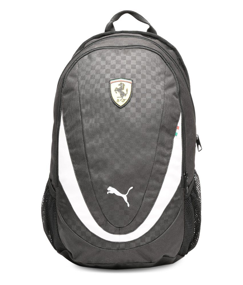 Puma Ferrari Replica Black   White Backpack - Buy Puma Ferrari Replica Black    White Backpack Online at Best Prices in India on Snapdeal 1ed07229899d5