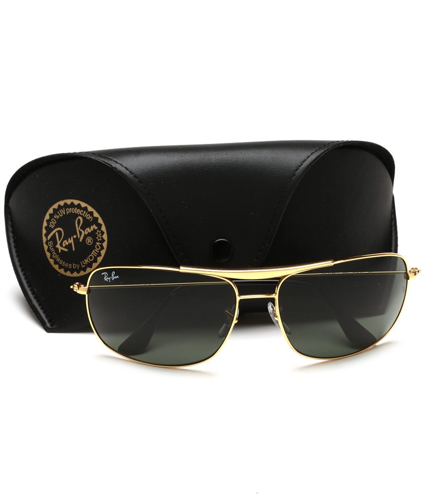 how much is ray ban sunglasses  Ray-Ban Green Rectangle Sunglasses RB3433 001 - Buy Ray-Ban Green ...