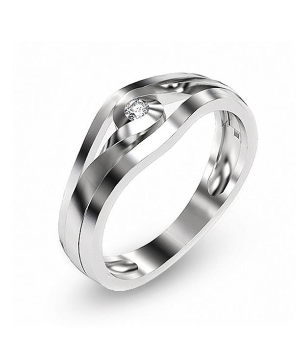 Shashvat Jewels 9KT Classic Inter Twist Solitaire Diamond Ring