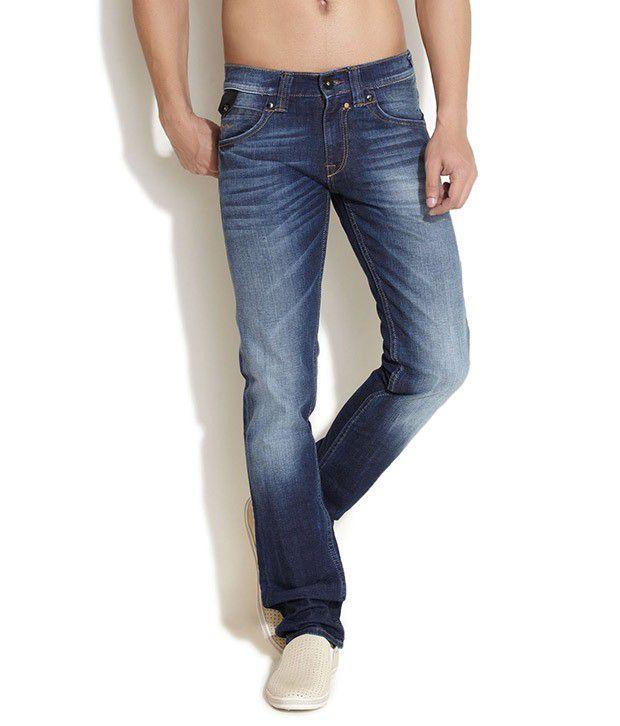Web Jeans Blue Regular Fit Jeans