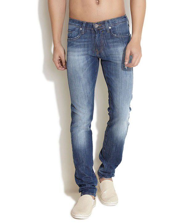 Web Jeans Blue Slim Fit Jeans
