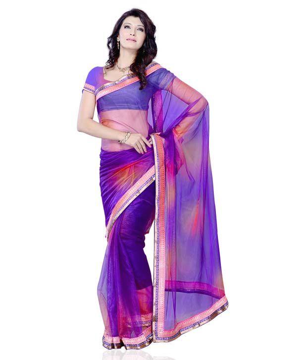 4eadde237f88b Diva Fashion Violet Art Silk Lace Saree With Blouse Piece - Buy Diva  Fashion Violet Art Silk Lace Saree With Blouse Piece Online at Low Price -  Snapdeal.com