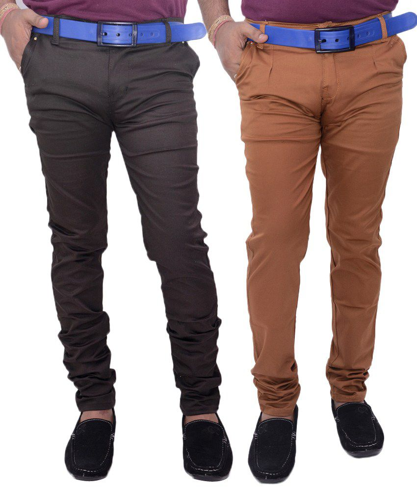 VAM Jeans Grey & Copper Cotton Chinos