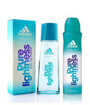 procesos de tintura meticulosos reunirse hermosa en color Adidas Pure Lightness 50ML Perfume with 150ML Deodorant Women: Buy ...