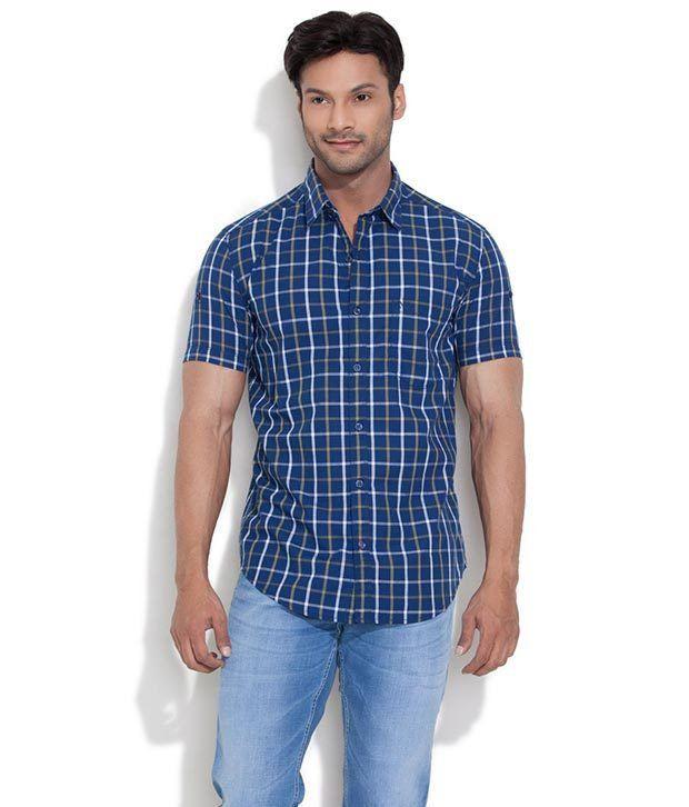 Numero Uno Blue Casuals Shirt