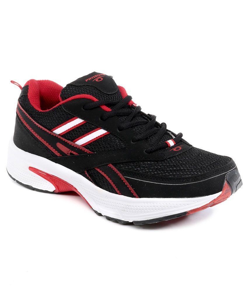 Prozone Black Sport Shoes