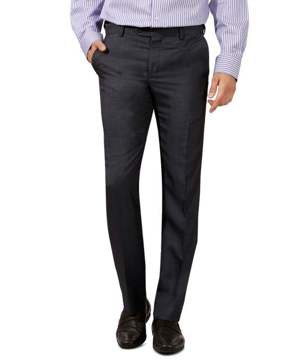 Van Heusen Gray Slim Semi Formals Flat