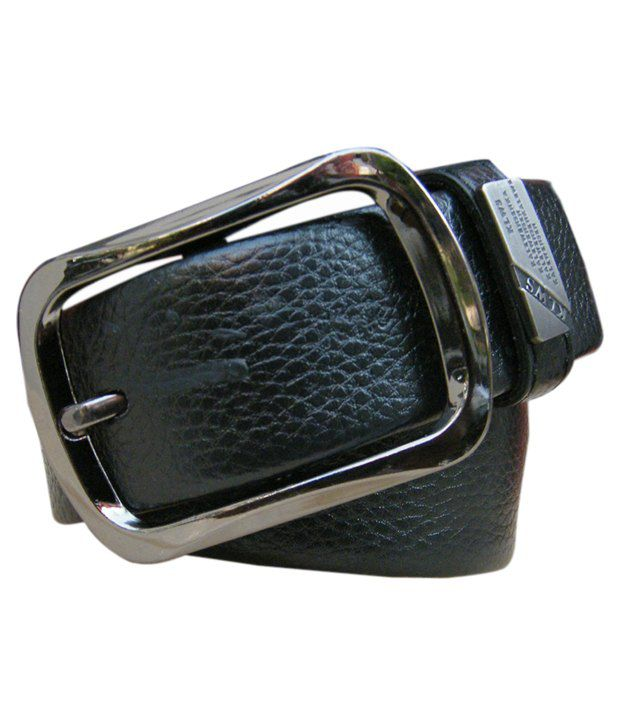 WINSOME DEAL Black Casual Single Belt ForMen