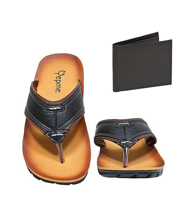 Yepme Contemporary Guy Sandals+Free Black Leather Wallet