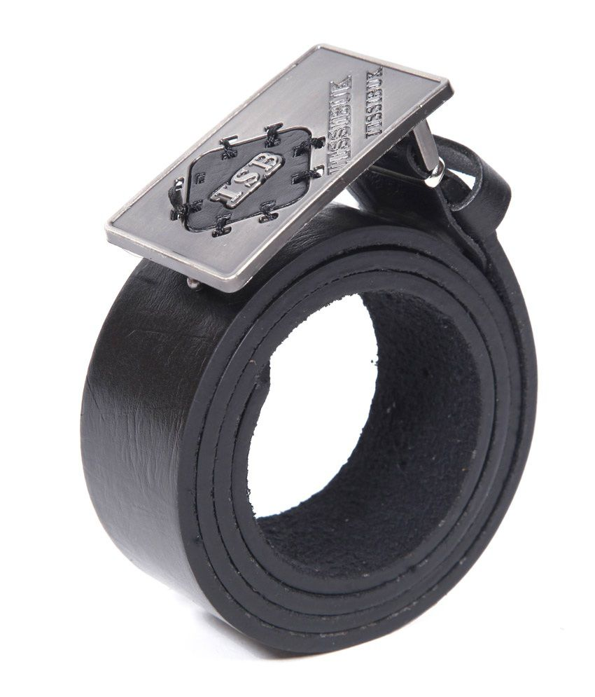 Coaster Stylish Leather Pin Buckle Belt Buckle Black
