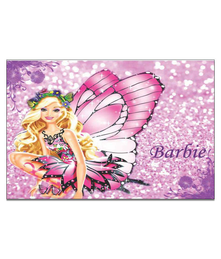 Finearts Butterfly Barbie Canvas Wall Painting