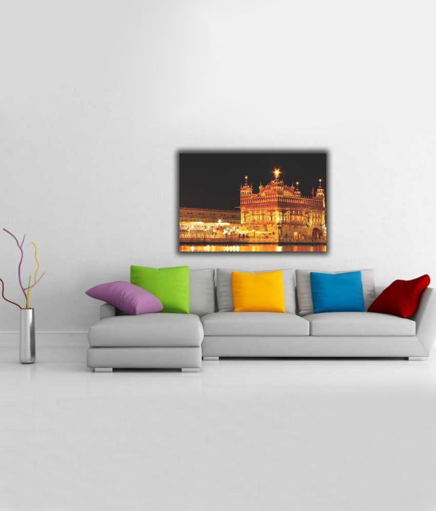 Finearts Golden Temple Canvas Wall Painting: Buy Finearts Golden