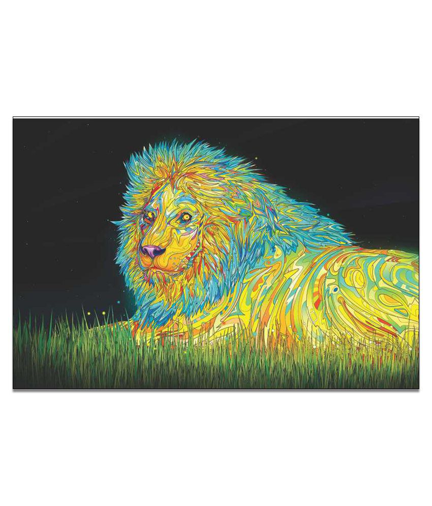 Finearts Lion Art Canvas Wall Painting