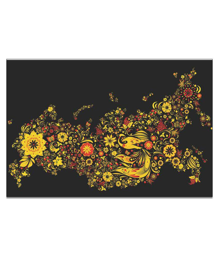 Finearts Yellow Flowers Canvas Wall Painting