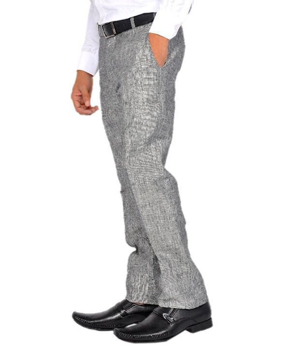 Robin Rider Formal Trousers Gray Formal
