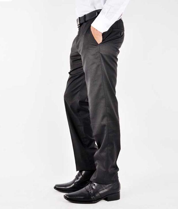 Van Heusen Formal Trousers Black Formal
