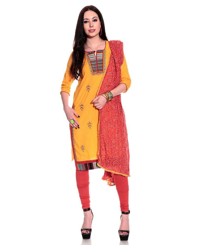 Biba Yellow Salwar suit