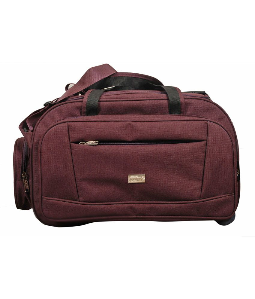 Cosmo Travel Bag With Wheel- Purple