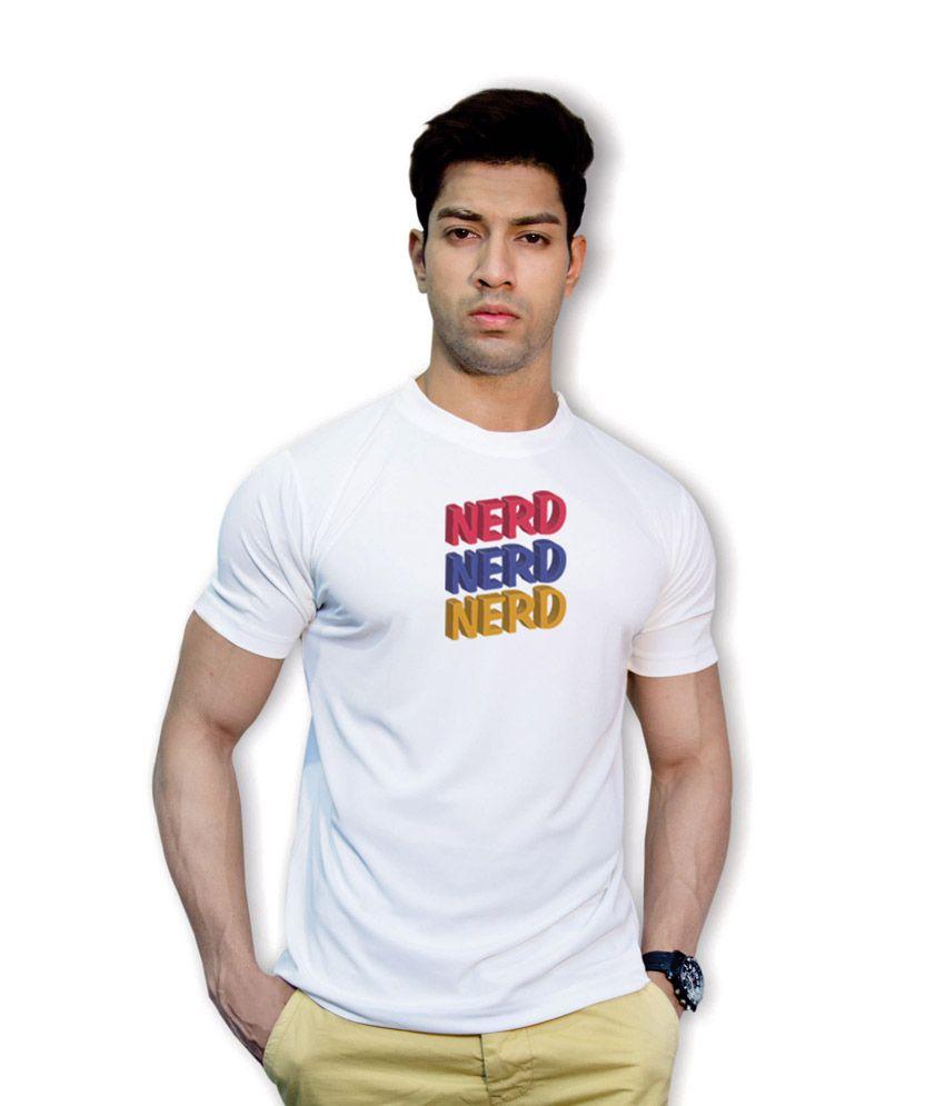 Effit Nerd White Dri-Fit T-Shirt