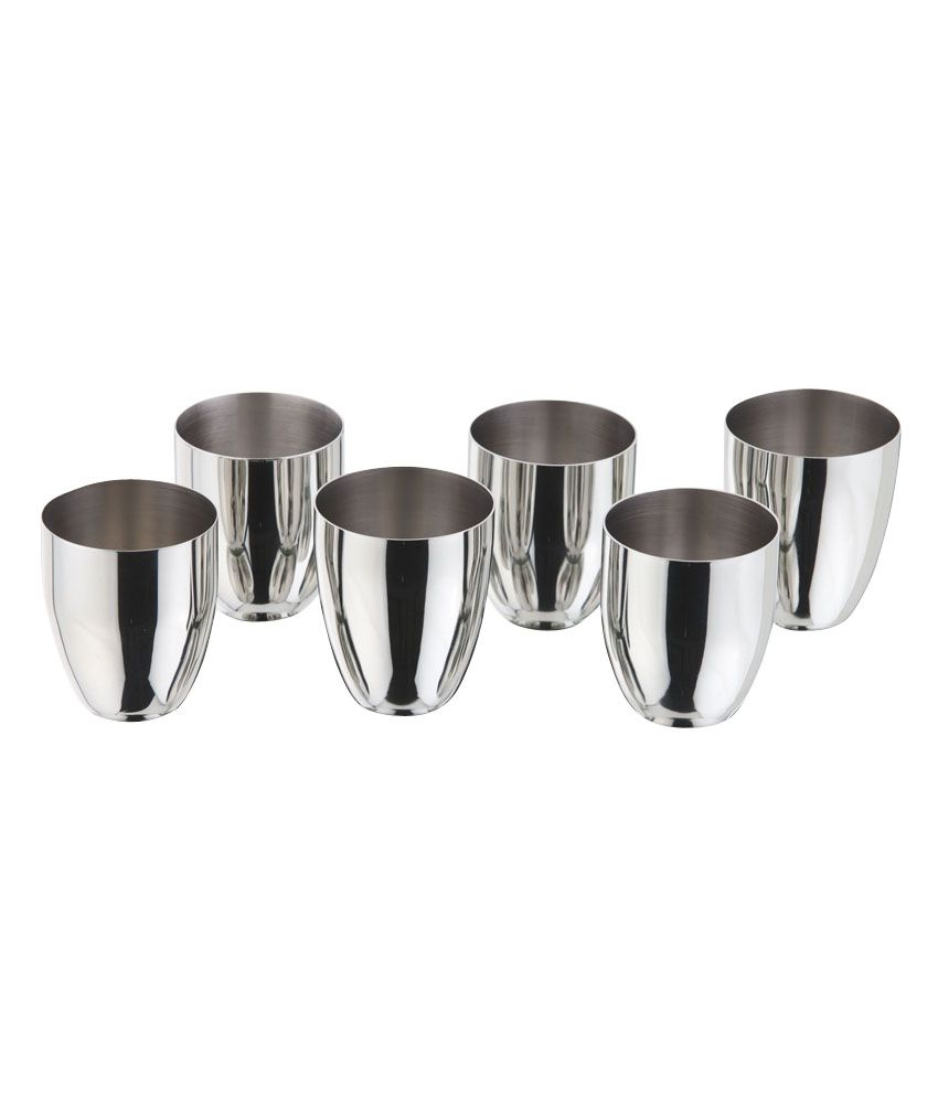 Kitchen Essentials Juicy Water Glasses 6 Pieces Set Stainless Steel ...