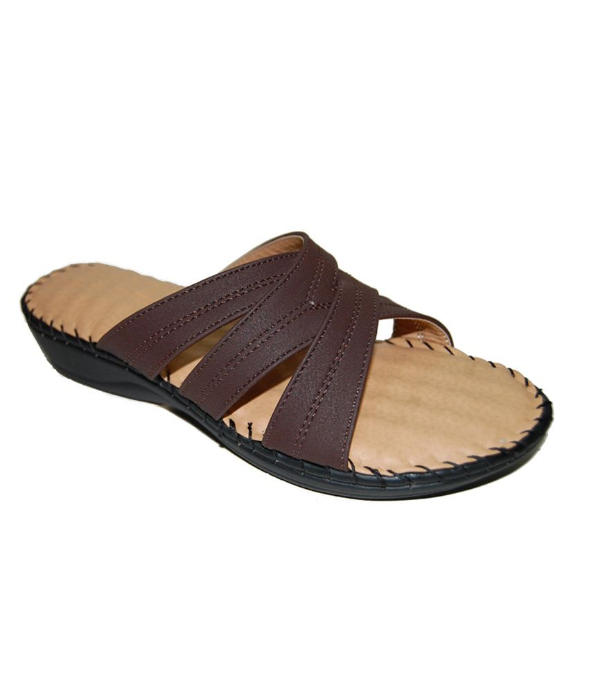 Mediconfort Brown Faux Leather Daily Women Sandal