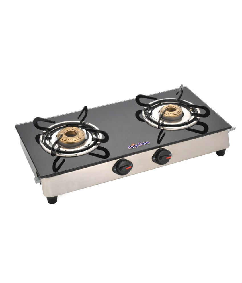 Gas Cooktop Glass Surya Flame Classic 2 Burner Glass Cooktop Price In India Buy