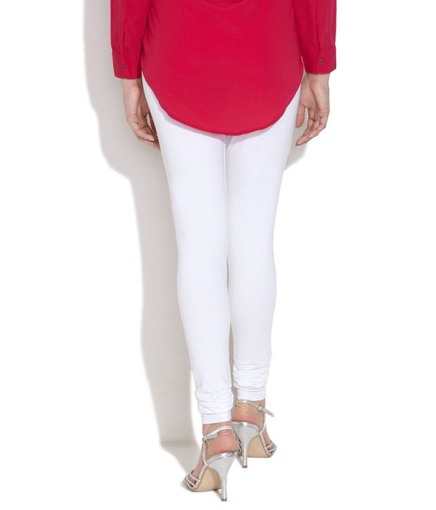 Aurelia White Cotton Leggings Price in India - Buy Aurelia White ...