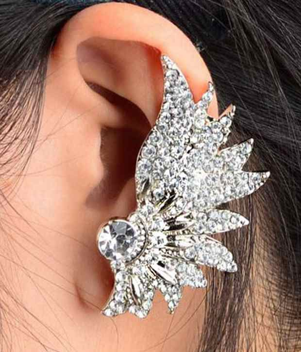 ShinningDiva Beautiful Crystal EAR CUFF (For Single Ear)