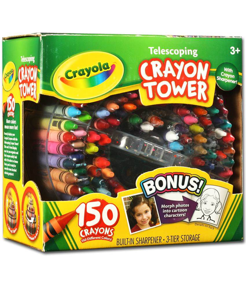 Crayola Telescoping Crayon Tower With 150 Colors Buy Online at