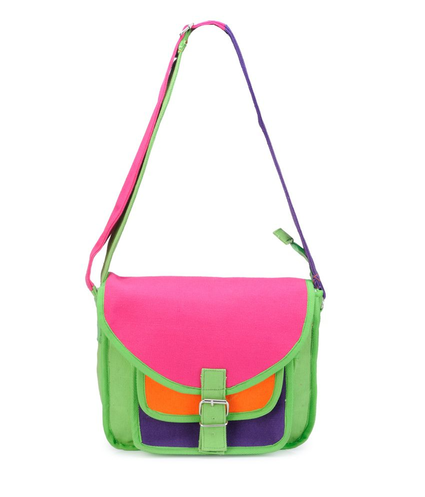 Bags Craze Bc-onlb-154 Green Sling Bag