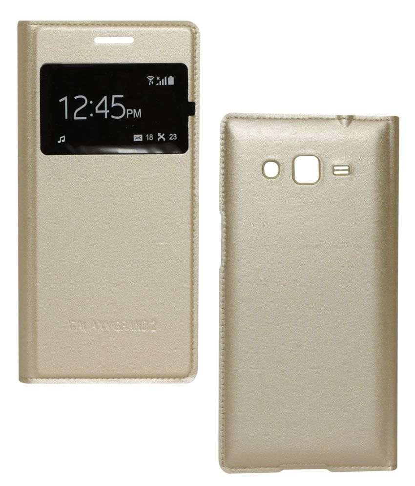 new style 7a0bf 90868 Dmg Gold Flip Covers For Samsung Galaxy Grand 2 G7102