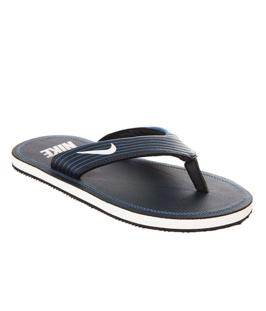 super popular 358c6 54290 Nike Navy Slippers For Mens