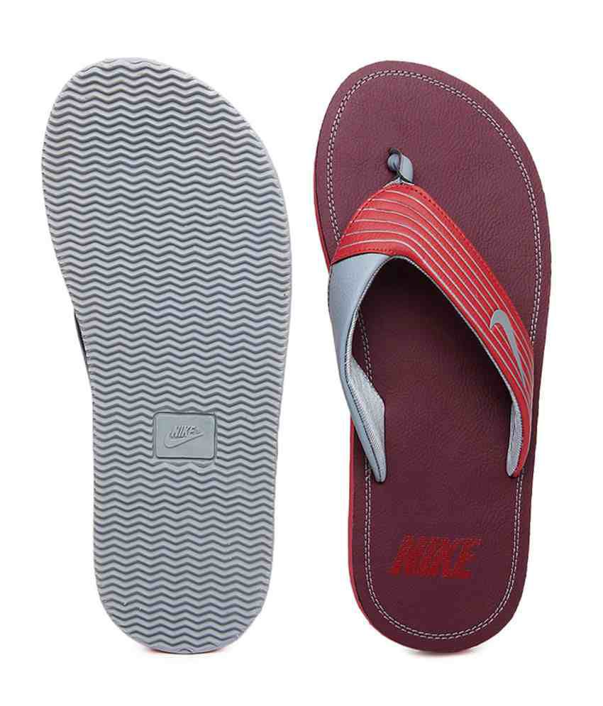 sports shoes a3178 6a297 Nike Red Slippers For Mens